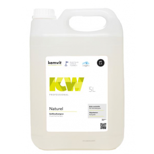 Kemwit Naturel suihkusaippua/shampoo KW, 5 litraa