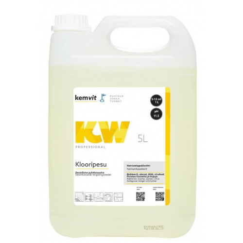 Kemvit-klooripesu KW 5l saniteettitiloihin(3 plo/ltk)