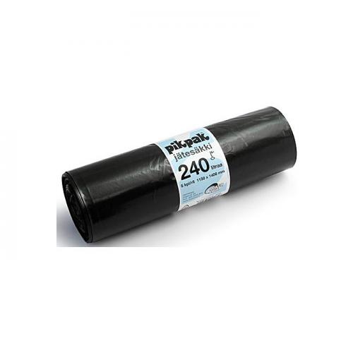 Jätesäkki 240L musta, 1150x1400mm 5kpl/rll (12rll/ltk)