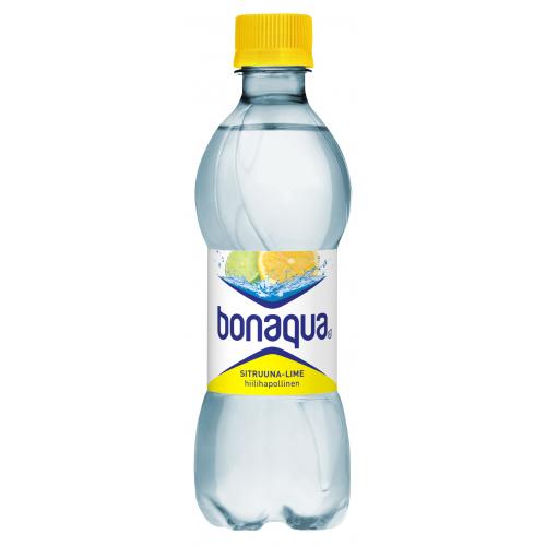 BONAQUA 0,33l Sitruuna-Lime hiilihapotettu kivennäisvesi (24plo/levy)