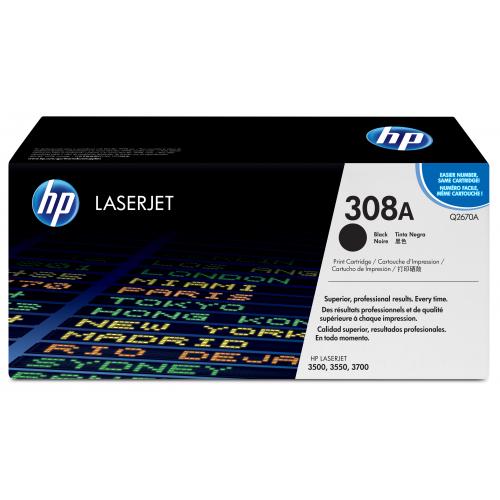 HP Q2670A 308A musta värikasetti 6K CLJ3500/3550/3700