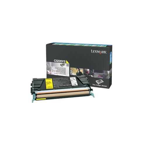 Lexmark C5220YS C52x kelt värikasetti 3000s.