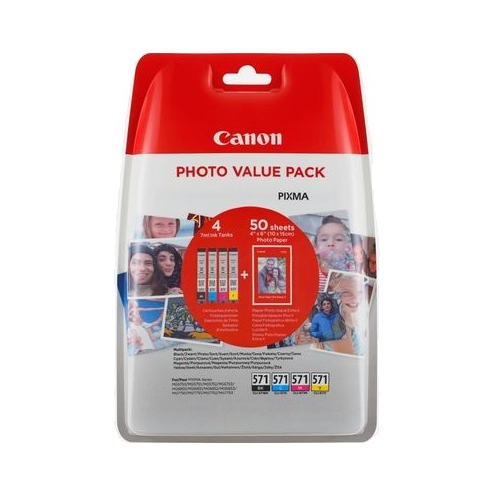 CANON CLI-571XL C M Y BK Photo Value Pack
