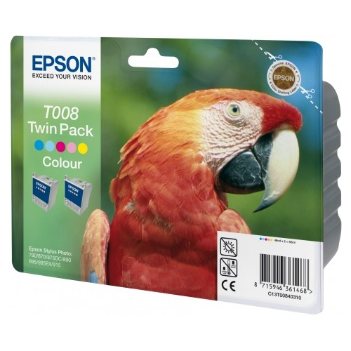 EPSON Ink T008 Colour Twinpack 2x46 ml