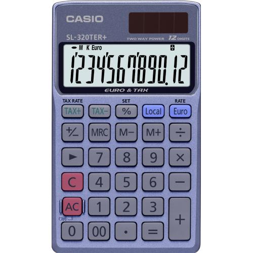CASIO SL-320TER taskulaskin 12-numeroinen