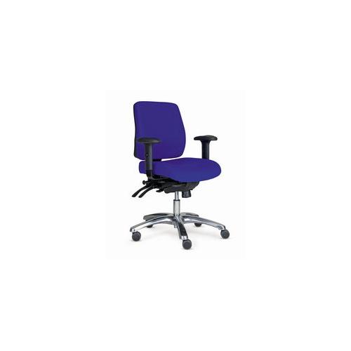 PRO 20 tuoli sininen, puolikorkea selkänoja,käsinojat