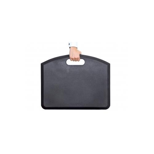 GetUpMat seisomatyöpistematto, musta kanto/ripustuskahva