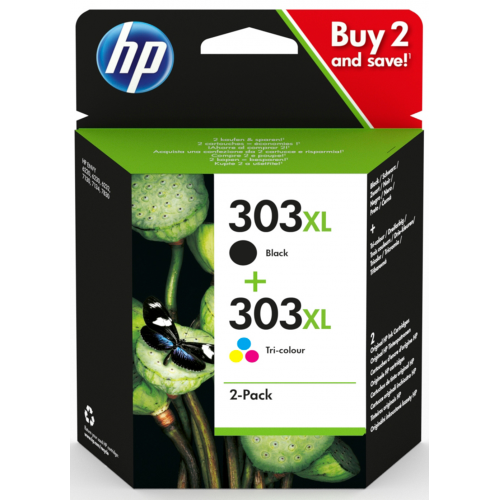 HP 303 XL Ink Cartridge Combo 2-Pack (303 musta + 303 väri)