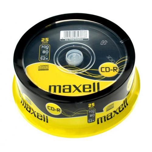 MAXELL 80XL CD-R levy 52x 25kpl pkt