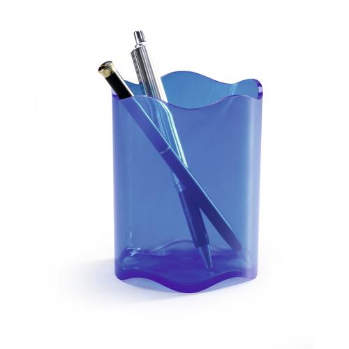 Durable Trend kynäpurkki läpinäkyvä sininen