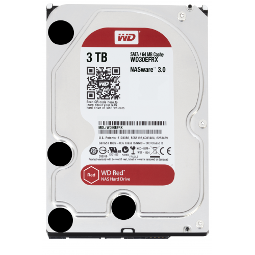 WD RED 3TB SATA 6GB S 64MB CACHE INTERNAL 3,5INCH 24X7 OPTIMIZED FOR SOHO NAS SYSTEMS NASWARE HDD BU