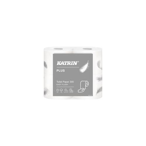 KATRIN Plus Toilet 300 EasyFlush wc-paperi 2-krs valkoinen 20rll/ltk