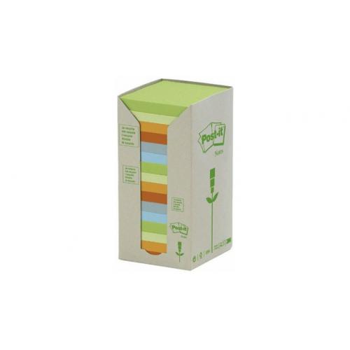 POST-IT 654 ekologinen viestilappu pastellilajitelma 76x76mm 16nid/ras