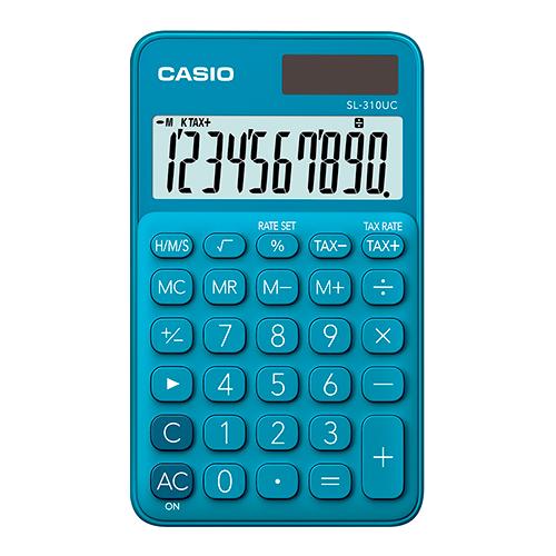CASIO SL-310UC-BU taskulaskin 10-numeroinen sininen