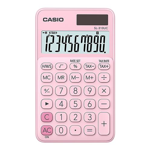 CASIO SL-310UC-PK taskulaskin 10-numeroinen pinkki