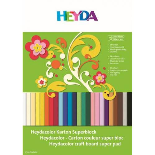 Heyda Color kartonkivihko 24x34cm värilajitelma 24 kpl 220g värikartonkia