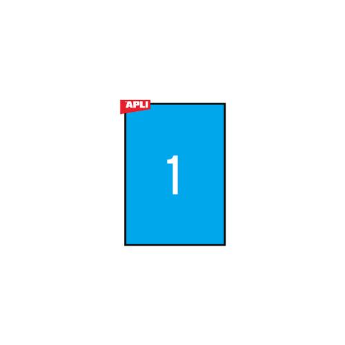 APLI tulostustarra sininen 1-jak 210x297mm