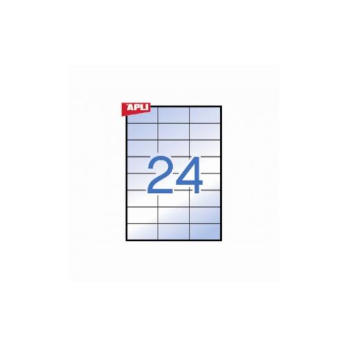 Apli 1224 kuultotarra 70x37 24-jak, transparent A4 20 säänkestävä