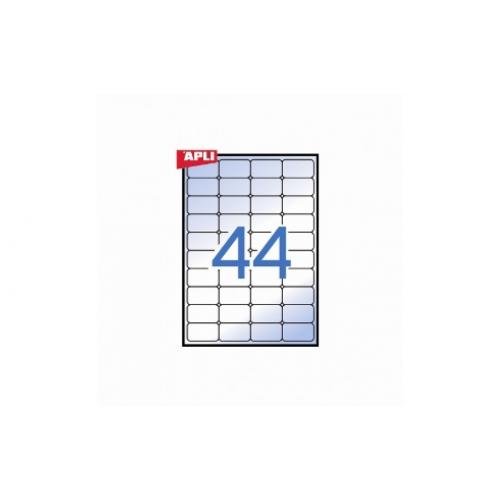 APLI tulostustarra polyester 44-jak, 48,5x25,4mm ″kuulto″