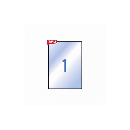 APLI tulostustarra A4 säänkestävä kirkas 20ark/pkt