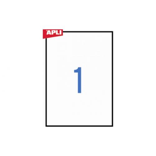Apli 1228 valkoinen polyester tarra 1-osainen 210x297 säänkestävä A4 20