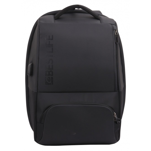 Reppu TravelSafe Neoton 15.6-tuum USB etutaskulla Musta