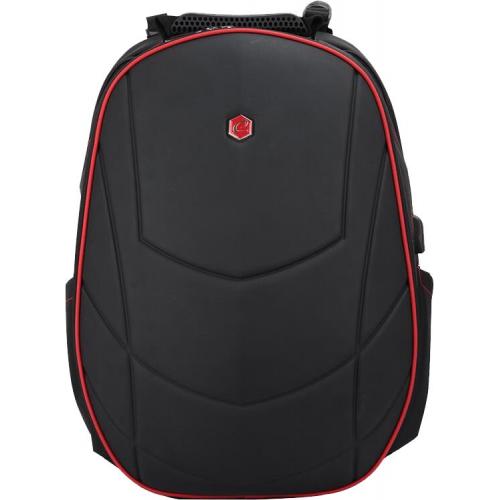Pelaajan reppu Gaming Assailant 17-tuum. USB musta/punainen