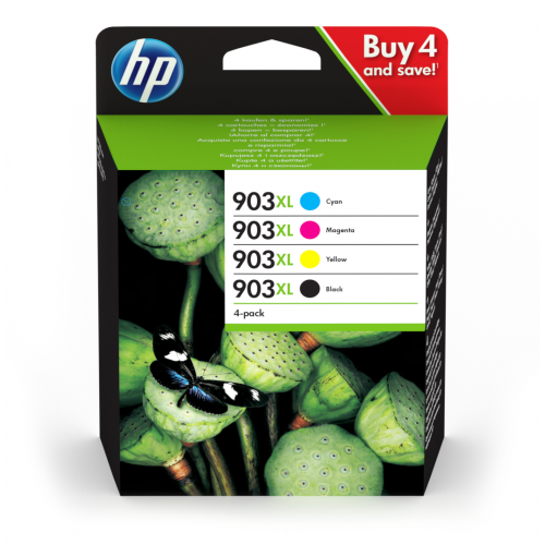 HP 903XL 4-Pack Ink C M Y K