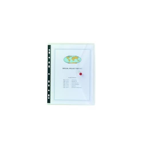 SNOPAKE Polyfile kansiotasku A4 kirkas, nepparikiinnitys pitkällä sivulla