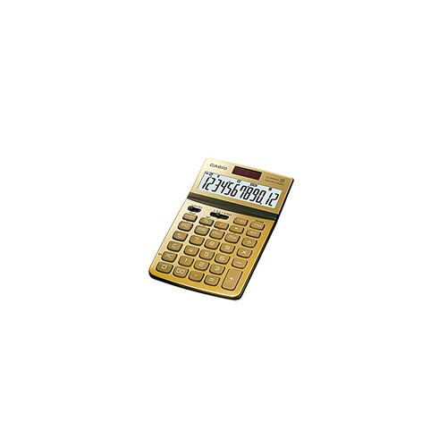 CASIO JW-200TW-GD design pöytälaskin 12-numeroinen kulta