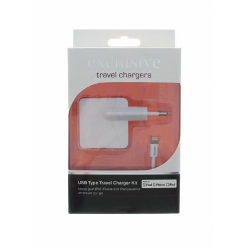 Insmat Apple Lightning MFI verkkolaturi 2,4A