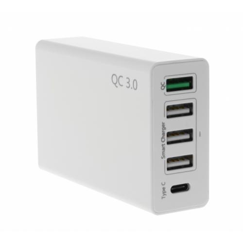 Insmat QC 3.0 Verkkolaturi 5XUSB 50W Smart