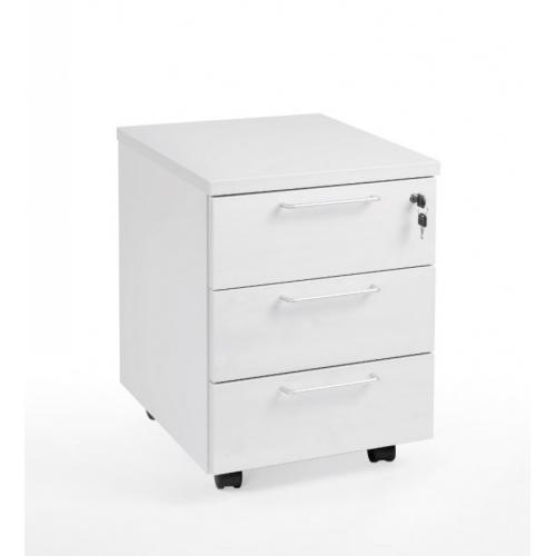 Classic 3D laatikosto 3-osainen valkoinen