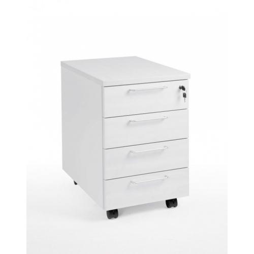 Classic 4D laatikosto 4-osainen valkoinen
