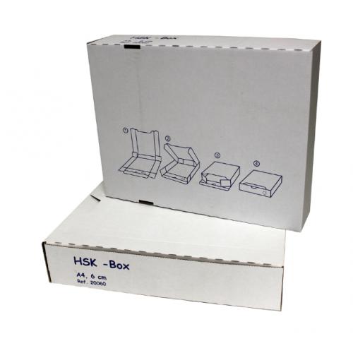 HSK-boxi 6cm A4 arkistokotelo valkoinen