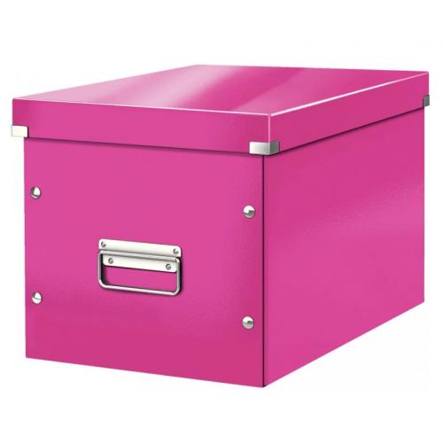 LEITZ Click Store säilytyslaatikko pinkki Cube L