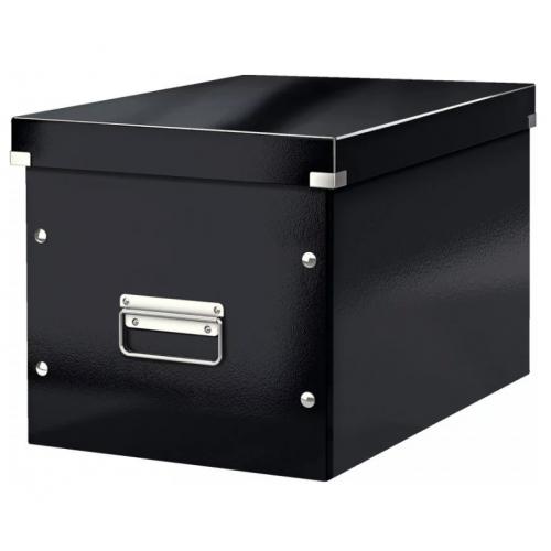 LEITZ Click Store säilytyslaatikko musta Cube M