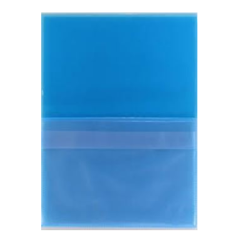 Huoltotasku sininen A4 tasku+ läppätasku pvc