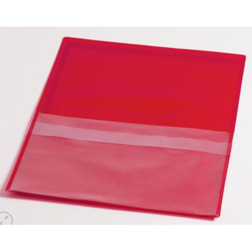 Huoltotasku punainen A4 tasku+läppätasku pvc