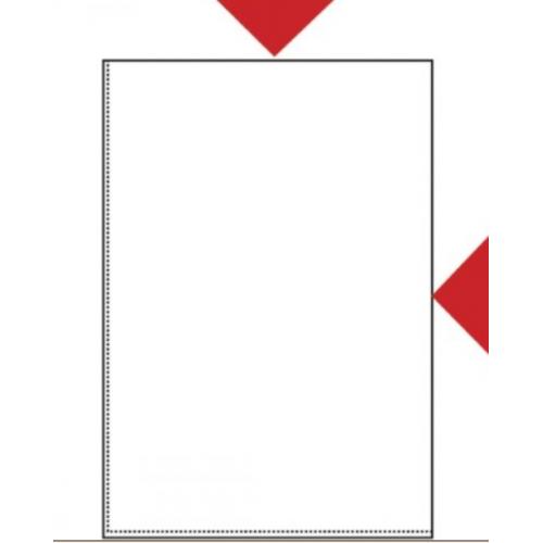 Muovitasku A3 kahdelta sivulta auki PP