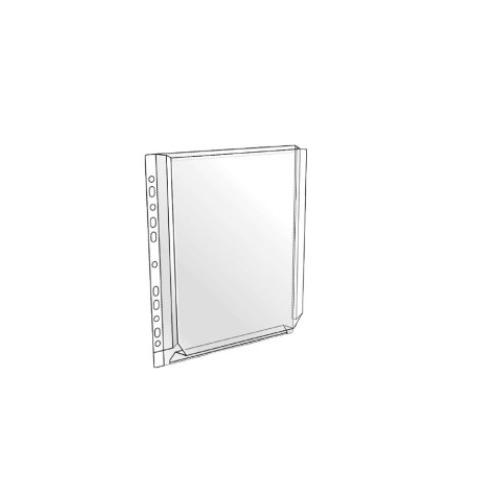 HOBBY kansiopaljetasku A4 kirkas, U-malli yleisrei′itys PVC 10kpl/pss