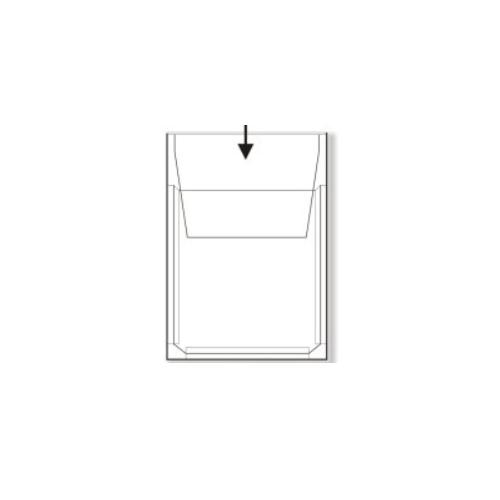 Paljetarratasku A4 läpällä PP 0,17 20mm nipuille(50)