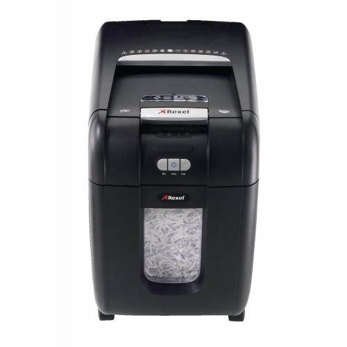 Rexel Auto+ 200X paperintuhooja 4x40mm suikale, 7 arkkia manuaalisyötöllä automaatilla 200 arkkia