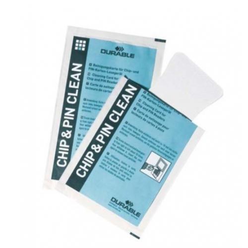 DURABLE puhdistuskortti Cleaning Card kortinlukijoille (ei sirukortinlukoille) 1kpl (20kpl/ltk)