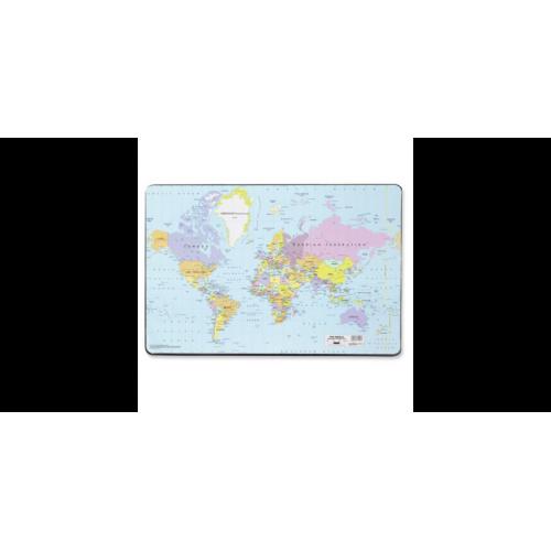 Kirjoitusalusta 40x53 maailmankartta