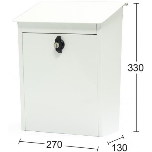Habo postilaatikko Classic 9441B valkoinen
