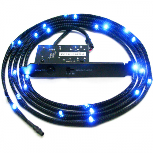 NZXT Sleeved LED Kit - sininen, 1m