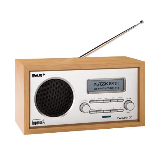 Imperial Dabman 30, DAB-, DAB+- ja FM-radio, herätyskello, kellonajan näyttö, RDS-tuki, 2,75″ näyttö