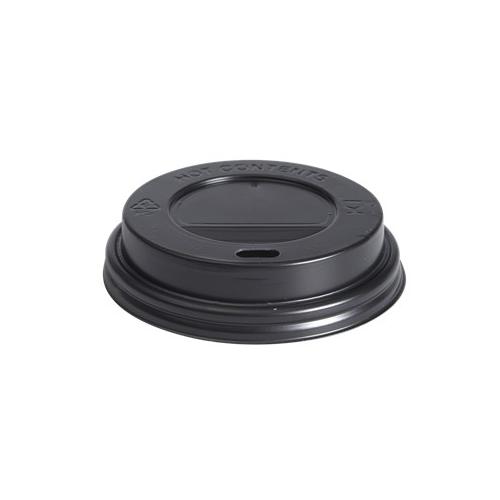 Gastro-Line kahvikupin kansi 24 cl, musta, PLA (50)