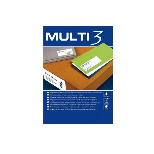 MULTI3 tulostustarra 40-jak 52,5x29,7mm (Nordic Office)